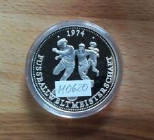 Medaille Silber BRD FIFA Fußball WM Weltmeisterschaft 1974 in Deutschland M0620