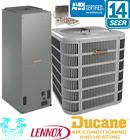 2.5 Ton A/C Split System 14 Seer Ducane Condenser & Air handler With Heat Strip
