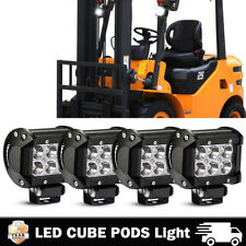 4PCS LED WORK LIGHT OFFROAD Driving FOG Fit JEEP Trucks Forklift SUV 4WD ATV