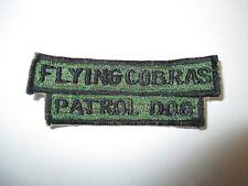 b8646 US Air Force Vietnam Security Police Sq Flying Cobras Patrol Dog IR22C