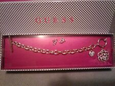 AUTHENTIC NEW GUESS CHARM BRACELET  & MATCHING EARRINGS