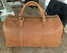 Mulholland Brothers Leather Lariat Hippo Duffle Bag - Brass - Quality - MINT!