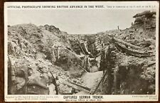 1915 WW1 'CAPTURED GERMAN TRENCH'- BRITISH EXPEDITIONARY FORCE - FROM FIELD PO