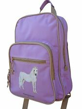 HORSE BACKPACK RUCKSACK GIRLS SCHOOL BAG LILAC BY PONY MALONEY
