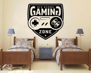 Eat Sleep Game Video Gaming Controller Wall Vinyl Decal Sticker Decor TK2345