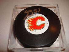 Lance Bouma Signed Calgary Flames Hockey Puck Autographed b