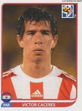 N°442 VICTOR CACERES # PARAGUAY STICKER PANINI WORLD CUP SOUTH AFRICA 2010