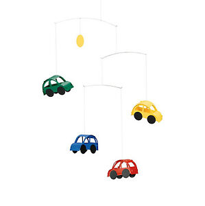 Flensted Automobile Car Modern Hanging Baby Mobile Nursery Decor Danish Colorful