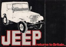 Jeep CJ-5 & CJ-6 1974 UK Market Foldout Sales Brochure by Eastern Tractors Ltd