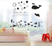 Under The Sea Home Decor Removable Wall Stickers Decals Decoration Vinyl Mural*