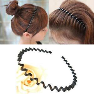 4mm BLACK METAL WAVY HEADBAND Hairband Mens Womens Hair Unisex Hoop Head Band