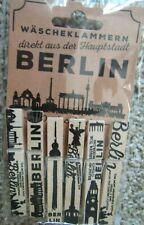 Pkg of 6 BERLIN Clothespins Wooden Hang Photos ETC. Notizzetteln Souvenir NIP