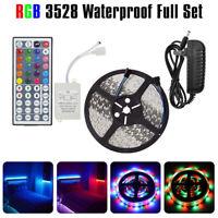 16ft 3528 RGB Full Kit LED Strip Light Remote Control for Bedroom Gaming Living
