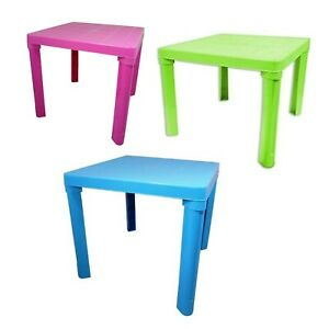 Plastic Kids Children Table Home Garden Folding Foldable Table Blue Pink Green
