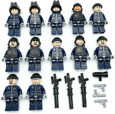 Lego 12 New Swat Team Police Minifigures Men People with Guns Weapons