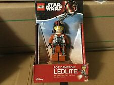 Star Wars The Force Awakens LEGO POE DAMERON LED Lite Toy Figure Light Keychain