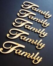 A202 Family Word 5 pack MDF Laser Cut Wooden Craft Wedding Family Tree
