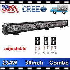 36'' 234W CREE LED Work Light Bar Jeep Spot Flood Offroad Lamp Boat Adjust Truck