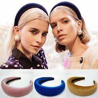 Women's Girl Padded Velvet Headband Multicolor Hairband Hair Decor Gifts