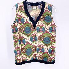 MARNI for H&M tribal blouse top Dutch African geometric batik cream Size 4