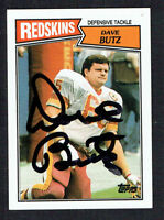 Dave Butz #75 signed autograph auto 1987 Toops Football Trading Card
