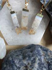 Citrine Necklace natural stone luck money abundance