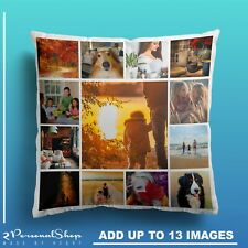 Personalised Photo Pillowcase Cushion Pillow Case Cover Custom Gift up to 13 pic