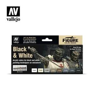 Vallejo 70.151 Black & White Painting Set 17ml (8 bottles)
