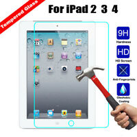 9H+Real Premium Tempered Glass Guard Screen Protector Tablet Film For iPad 2 3 4