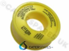 GAS PTFE TAPE 4 USE ON COMMERCIAL COOKER CATERHOSE YELLOW PIPE FITTINGS NAT LP