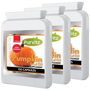 Pumpkin Seed Oil 2000mg HIGH STRENGTH Men's 360 Health Tablets Purvitz UK