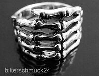 Biker Ring Skelett Hand 925 Silber Gothic Schmuck Geschenk Herren Skull Gruft