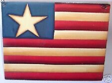 Primitive rustic Early American style Flag sign Americana Lone Star
