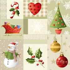 Christmas 20 Paper Lunch Napkins CHRISTMAS STORY Winter Snowman Colourful Holly