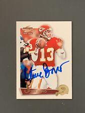 1995 Score Steve Bono Autographed Card Kansas City Cheifs