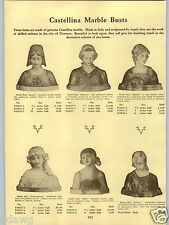 1934 PAPER AD Castellina Marble Busts Italian Mignon Giovane Japanese Cloisonne