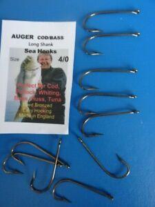 10  x  size 4/0 Auger Bronzed Sea Kirby Hooks