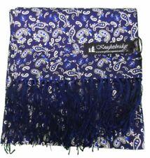 Bufandas de hombre en color principal azul 100% seda