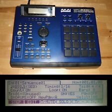 CUSTOM Akai MPC 2000XL Blue LEDs/Black PADS 1GB CF 32MB RAM FULLY SERVICED