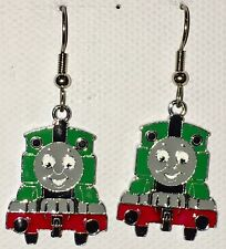 PERCY the TRAIN GREEN Earrings Surgical Steel New PBS Classic Thomas Tank