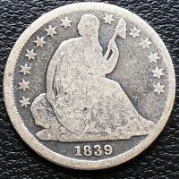 1839 O Seated Liberty Dime 5c Better Grade #31161