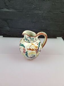 """Glyn Colledge Design Denby Pottery Jug Hand-Painted 6.5"""" 1960's Crazing"""