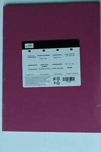 Stampin Up Berry Burst Cardstock Paper NIP Sealed 24 sheets