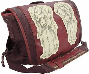 """THE WALKING DEAD """"DARYL WINGS MESSENGER BAG"""" Dead Red Daryl Dixon NEW Unopened"""