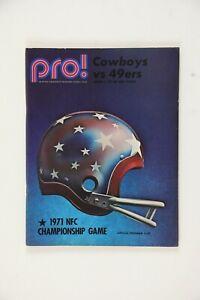 1971 NFL Pro! Cowboys Vs. 49ers NFC Championship Game Football Program