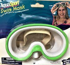 New listing New-AquaSport Swim Mask-Deluxe Intermediate Em-1188-Bright Green-w/Safety Lens