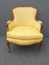 French Country Provincial Vintage Yellow DOWN FEATHER CUSHION Accent CHAIR
