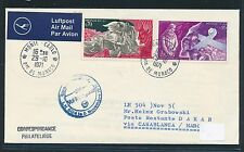95354) LH FF Casablanca - Dakar 5.11.71, Brief ab Monaco, Dante Dichter