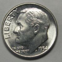 Gorgeous 1954 Silver Roosevelt Dime Grading Choice Uncirculated  DUTCH