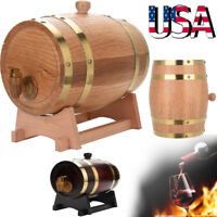 1.5/3/5/10L American Oak Wooden Brewing Port Kegs Wine Barrel Beer Whiskey Rum